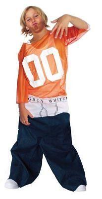 Child Tighty Whitey Jumpsuit Costume Hiphop Rapper Dance Theme Party Medium 7-10