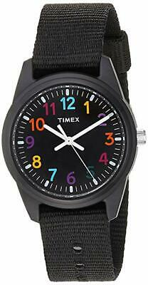 Timex TW7C10400, Kid's Time Machines Black Nylon Strap Watch