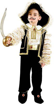 Italian Made Baby Boys Black/Gold Pirate Halloween Fancy Dress Costume Outfit