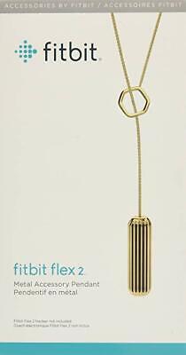 Fitbit Flex 2 Metal Accessory Gold Pendant - NEW