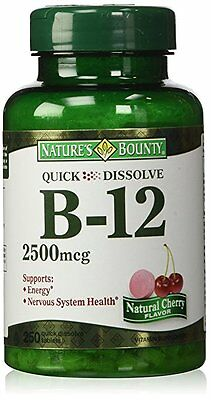 Nature's Bounty Vitamin B-12 2500mcg Tablets 250ct - Expi...