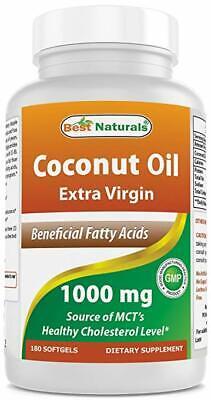 Best Naturals Extra Virgin Coconut Oil 1000 mg Softgel 180 (Best Naturals Coconut Oils)