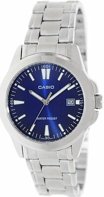 Casio MTP1215A-2A2 Men's Standard Stainless Blue Dial Analog Date Watch