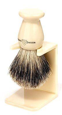 Edwin Jagger - Imitation Ivory , Medium, Best Badger Shave Brush W/