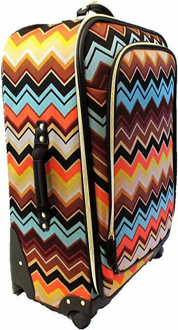 Missoni For Target Spinner 28″ Luggage Multi Color Chevron Zig Zag Luggage