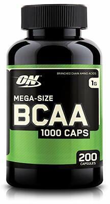 Optimum Nutrition BCAA 1000 | 200 Capsules | Branch Chain Amino Acids Capsules