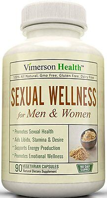 Vimerson Health Sexual Wellness For Women   Men 100  All Natural 90 Ct