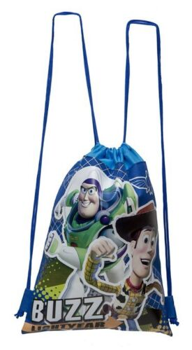 DISNEY-TOY-STORY-WOODY-BUZZ-BLACK-DRAWSTRING-BAG-BACKPACK-TRAVEL-STRING-TOTE