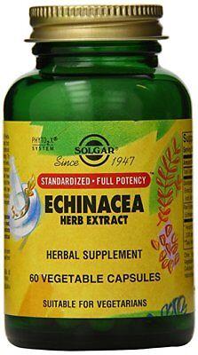 Solgar Standardized Full Potency Echinacea Herb Extract Vegetable Capsules 60