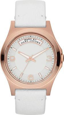 NEW Marc By Marc Jacobs R-Gold Baby Dave White Leather Band Ladies Watch MBM1260