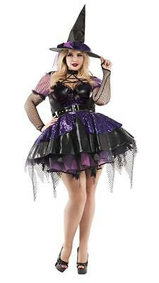 Party King Amethyst Pentagram Witch Plus Size Adult Halloween Costume - Halloween Costume Witch King