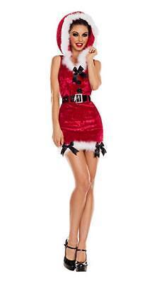 Party King Santas Kleiner Helfer Samtkleid Erwachsene Weihnachten Kostüm PK850RD