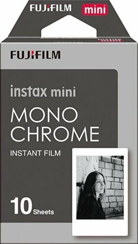 10 Prints Fujifilm instax mini B&W Monochrome Film for Fuji exp 04/2019