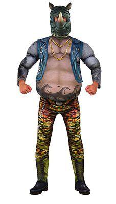 Teenage Mutant Ninja Turtles 2 Deluxe Rocksteady Men's Costume Fit to 44 Jkt - Ninja Turtles Costumes For Men