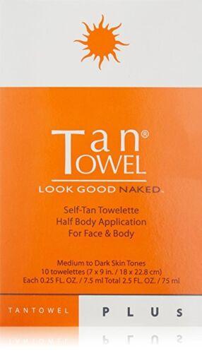 10 TanTowel Plus Half Body $28 Retail NEW/FRESH! Dark Tanning Formula Tan Towels