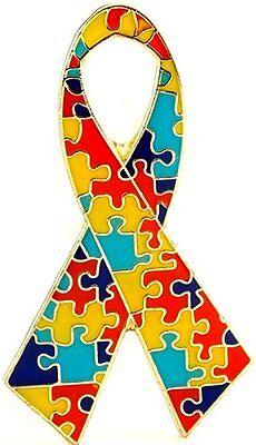 Autism Ribbon Lapel Hat Pin Autism Awareness Tie Tac FAST USA SHIPPING