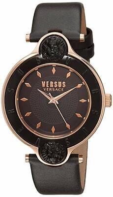 Versus by Versace Women's SCF080016 'NEW LOGO' Quartz Leather brown Watch