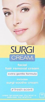 Surgi Cream Facial Hair Remover Cream extra gentle formula 1oz.