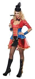 CIRCUS RINGMASTER FANCY DRESS OUTFIT SIZE 12/14 GREAT FOR PARTY OR HEN DO
