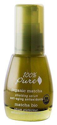 100% PURE Organic Matcha Anti-Aging Shielding Serum 1oz facial Serum moisturizer