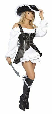 SUIT COSTUME PIRATE CORSAIR HOLDING CARNIVAL HALLOWEEN CHEAP (8403)