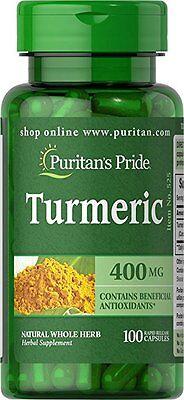 Puritans Pride Turmeric   400 Mg 100 Capsules