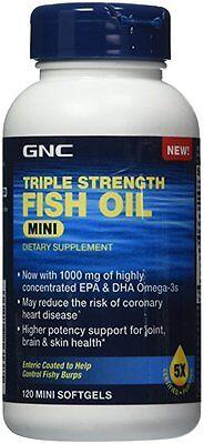 GNC Triple Strength EPA DHA OMEGA Fish Oil Mini 120 Softgels