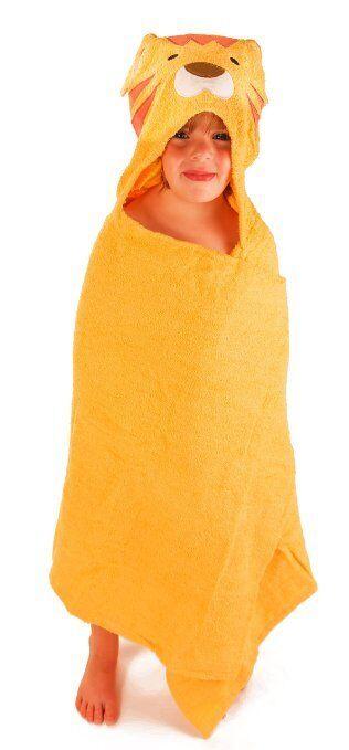 KIDS HOODED BATH TOWEL WRAP LION SAFARI JUNGLE COZY orig. Sa