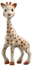 Brand new in packaging Sophie the giraffe tether teething chew toy