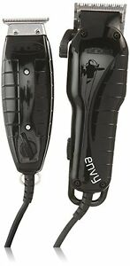 Andis Stylist Combo Envy Clipper + T-Outliner Trimmer Black Comb