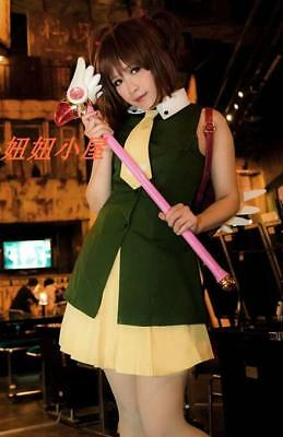 Kostüm Cosplay Cardcaptor Sakura (Card-captor Sakura the movie Trip to Hong Kong Uniform Cosplay Kostüm Costume)