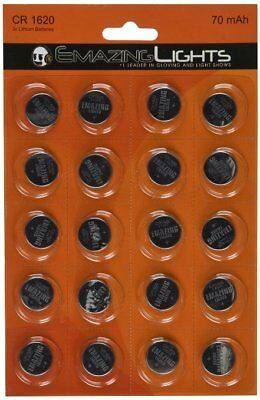 Emazing Lights CR1620 3 volt Button Cell Lithium Batteries 2