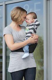Hippychick' dark grey baby or toddler carrier