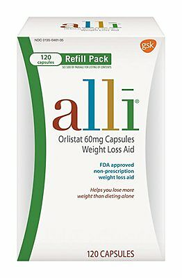 Alli  Weight Loss Aid Refill Pack Orlistat 60 Mg Capsules   120 Count