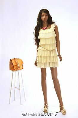 Female Standing Mannequin Full Body Stand African Girl Manikin- Tanya2 Wigs