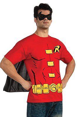 Robin Kostüme Shirt (Rubies Dc Comics Batman Robin Erwachsene Herren T-Shirt Hemd Halloween Kostüm)