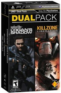 NEW PSP 2-PACK KILLZONE LIBERATION SYPHON FILTER LOGANS SHADOW
