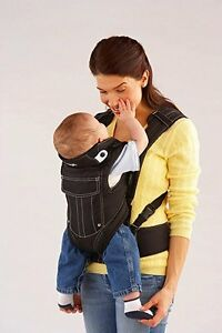 Evenflo Snugli Front And Back Pack Soft Infant Baby Carrier Onyx
