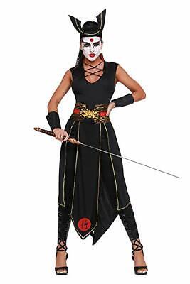 Dreamgirl Samurai Krieger Kämpfer Japanisch Adult Damen Halloween Kostüm (Japanische Dame Adult Kostüm)