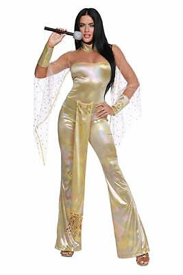 Dreamgirl 70s Icon Disco Cher Music Singer Adult Womens Halloween Costume