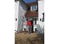 Aluminium ladders + platform