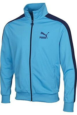 Puma Heroes T7 Men's Full Zip Track Jacket In Vivid Blue Size UK S