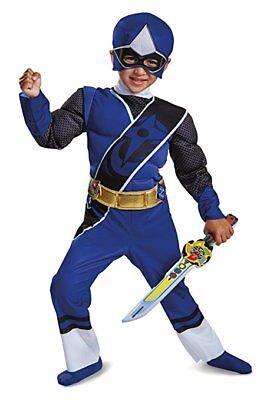 Disguise Power Ranger Ninja Steel Blue Child Toddler Halloween Costume 19838