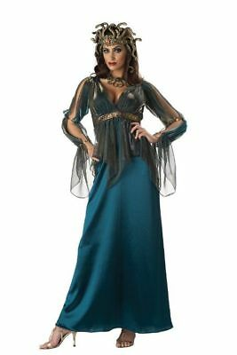 InCharacter Medusa Halloween Costume Satin Gown Headpiece & Necklace Med $150 - Medusa Costume Headpiece
