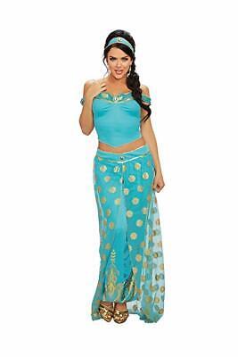 Dreamgirl Arabisch Königsblau Prinzessin Jasmin Adult Damen Halloween - Arabische König Kostüm