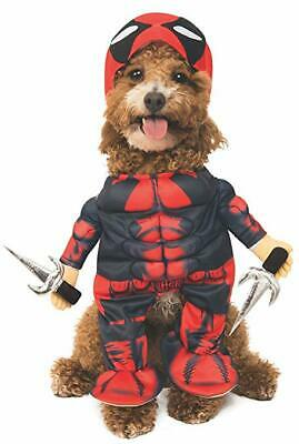 Deadpool Marvel Comics Superhero Fancy Dress Up Halloween Dog Cat Pet Costume **