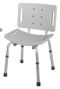EUC - GUARDIAN SHOWER BENCH WITH BACK - G30400