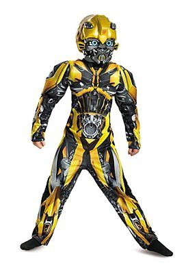 Disguise Transformers Bumblebee Classic Muscle Child Halloween Costume 22432 - Kids Transformers Costume