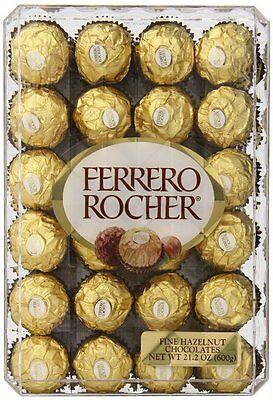 - FERRERO ROCHER FINE HAZELNUT CHOCOLATE CANDY 48 INDIVIDUALLY GOLD WRAPPED BOX