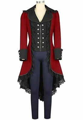 Women's Tuxedo Gothic Tailcoat Wedding Uniform Steampunk Victorian Jacket Coat (Victorian Costumes)